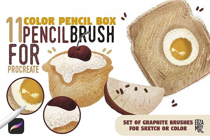 Color Pencil Box - Procreate set