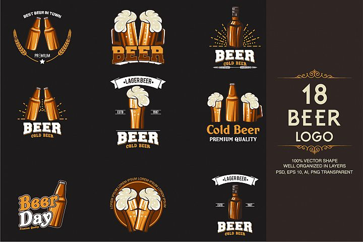 18 Beer Logotypes and Badges