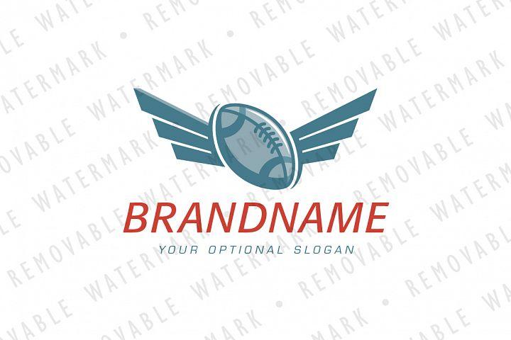American Football Wings Logo