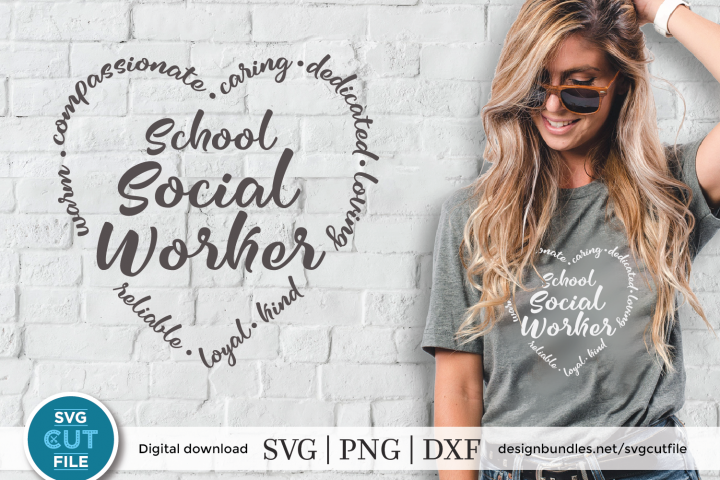 School Social worker svg - a social work svg for crafters