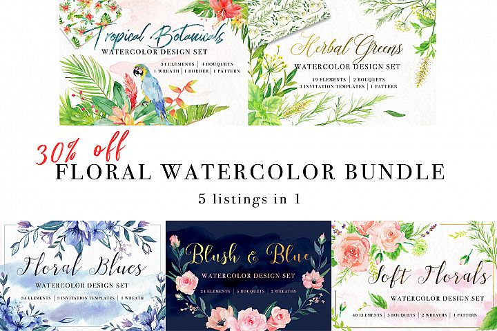 Floral Watercolor Bundle