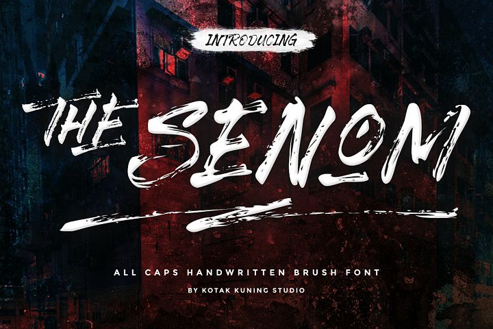 The Senom - Brush Font