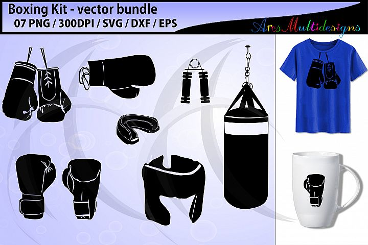 Boxing svg / boxing kit svg / boxing glove svg / vector