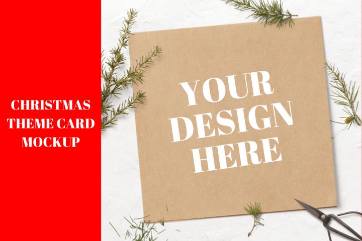 Christmas Theme Card Mock up - 2160x2160px