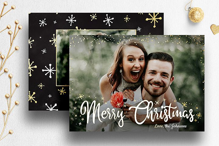 Christmas Card Photoshop Template for Photog | 007