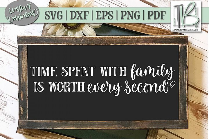 Time Spent With Family Is Worth Every Second SVG File, Home