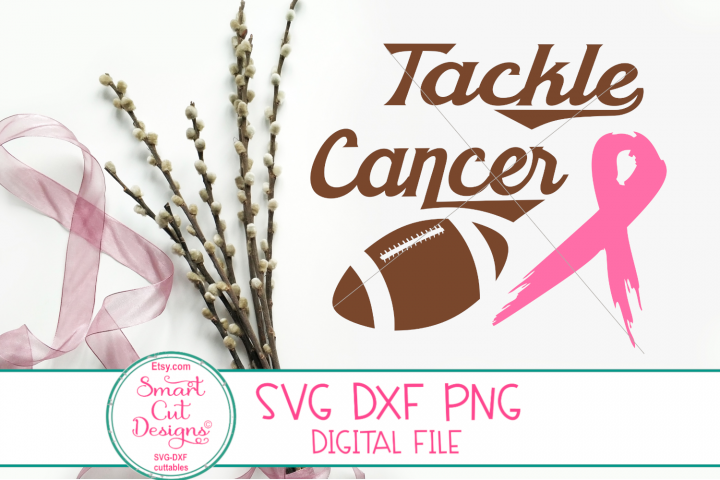 Tackle Cancer SVG, Breast Cancer SVG, Pink Ribbon, Football