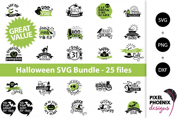 Halloween Bundle, SVG Bundle - 25 files