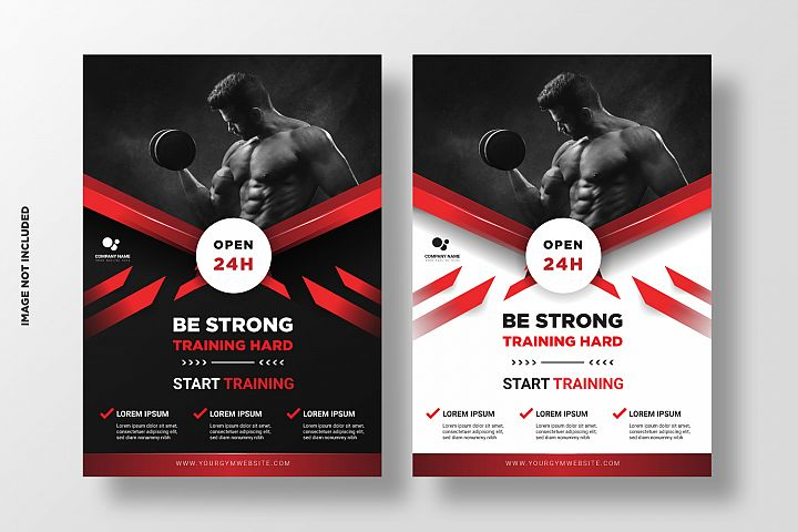 Fitness Flyer Template. Vol 5