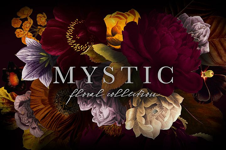 Mystic Floral Graphics Collection Clip Art