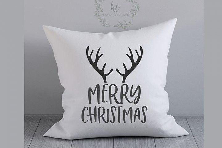 Merry Christmas SVG, Antlers SVG, Reindeer SVG, Cricut SVG