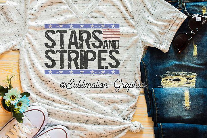 Stars & Stripes Sublimation PNG