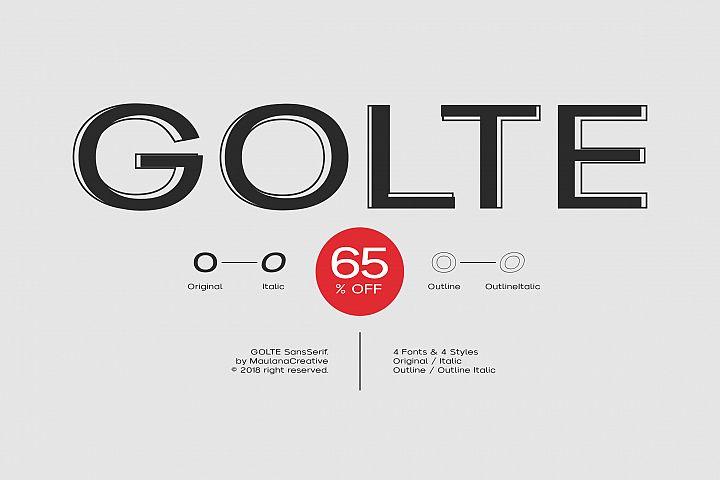 Golte Sans Font - 65 OFF