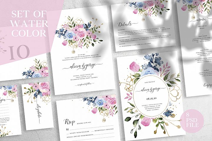 Set of Watercolor - Wedding Suite