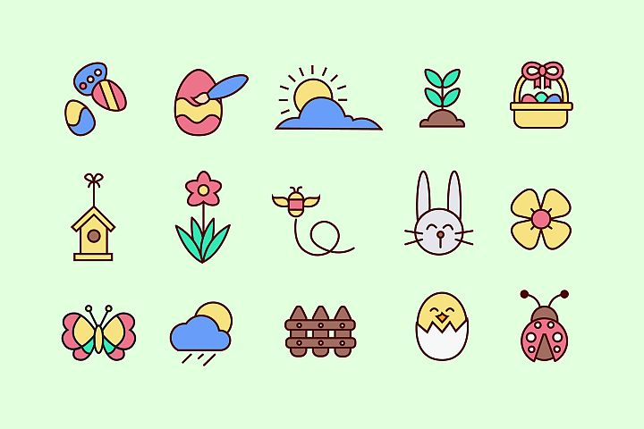 Easter Cuties Icons