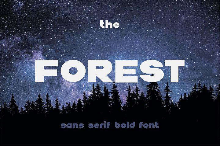 The Forest. Sans serif bold otf font