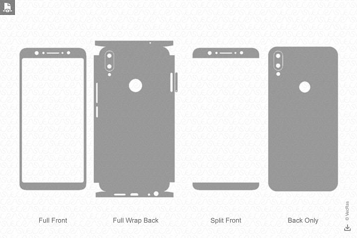 Zenfone Max Pro M1 2018 Skin Template Vector