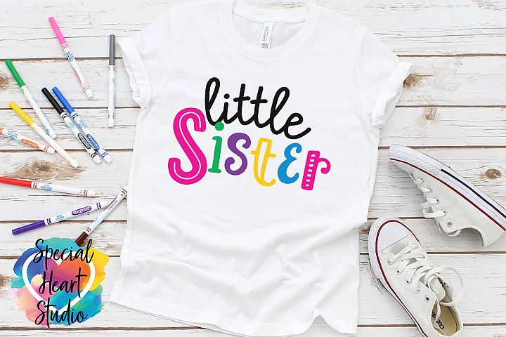 Little Sister - A family and sibling SVG