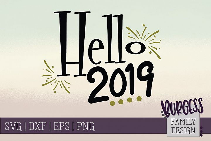 Hello 2019 | SVG DXF EPS PNG