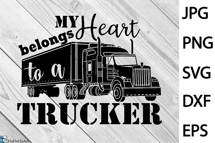 Truck Driver - Clip art / Cutting Files 398c