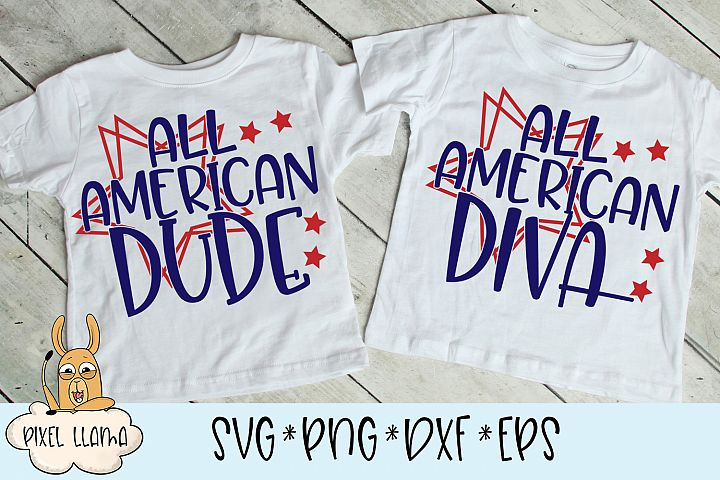 All American Diva & Dude Matching SVGs