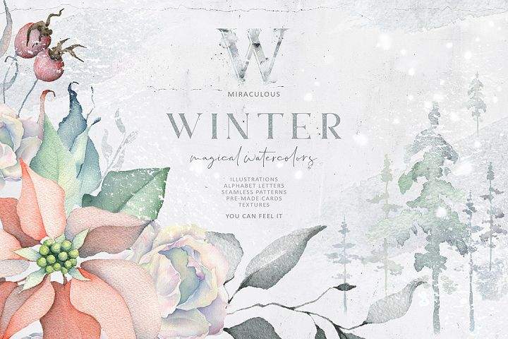Winter Watercolors & Alphabets