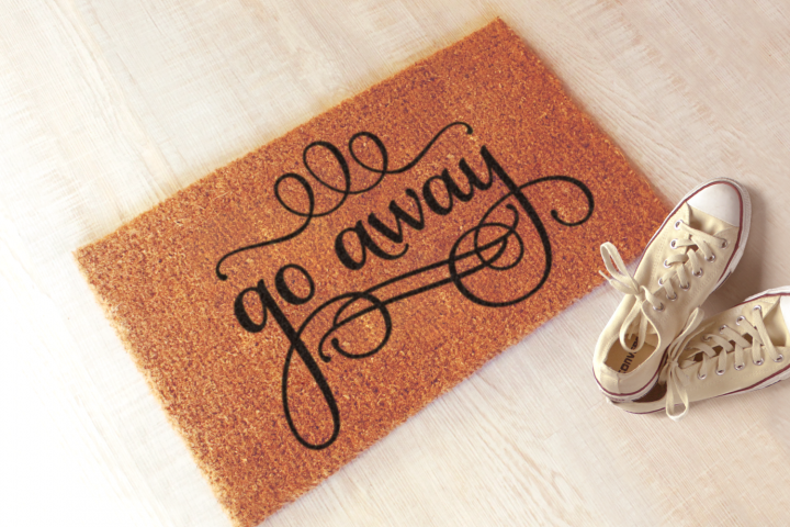 Go Away Funny Doormat SVG Design