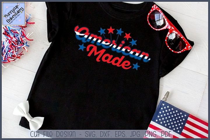 American Made SVG Cut File and Clipart