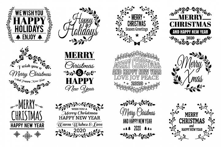 12 Christmas SVG Quotes Bundle