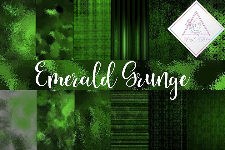Emerald Grunge Digital Paper
