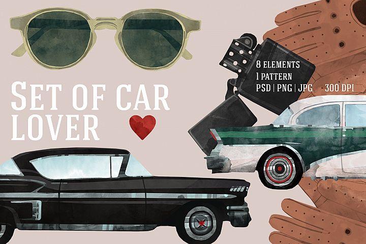 Set of car lover