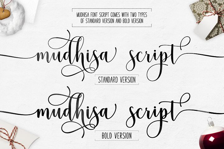 Mudhisa Script Font Trio - Free Font of The Week Design5