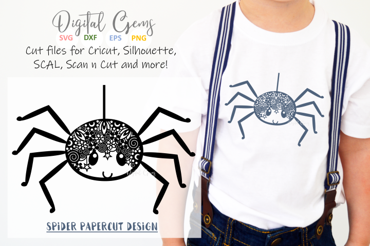 Spider paper cut design SVG / DXF / PNG