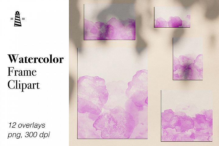 Watercolor Frame Overlays