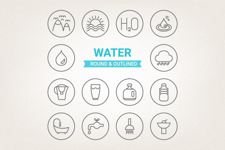 Circle Water Icons