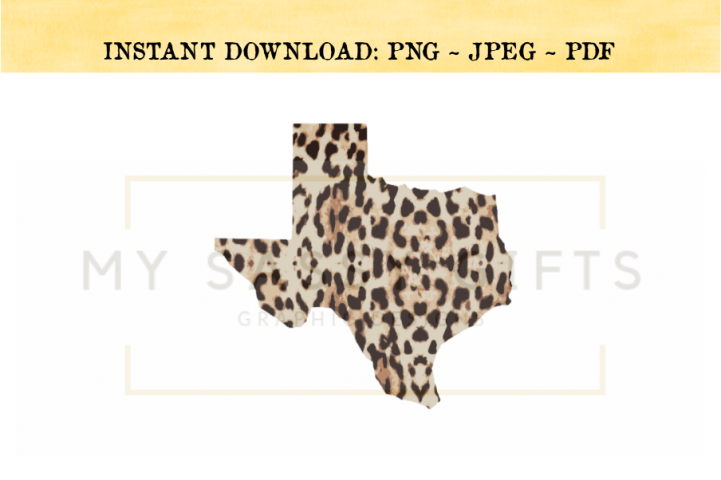 Texas State Leopard Print and Southwestern PNG
