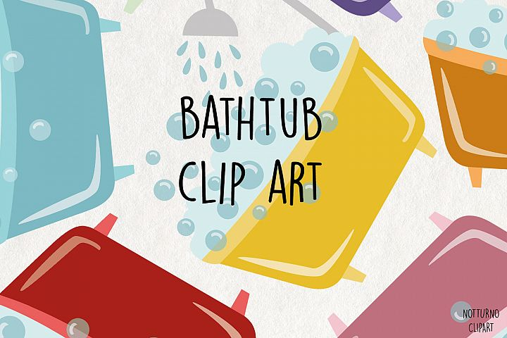 Bathtub SVG Clipart Files