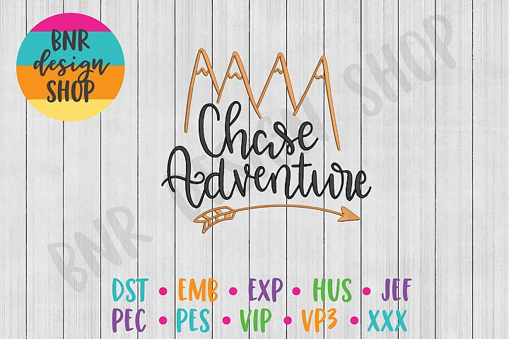 Adventure Machine Embroidery Design, Travel Embroidery
