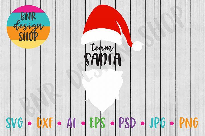 Christmas SVG, Team Santa, SVG Files