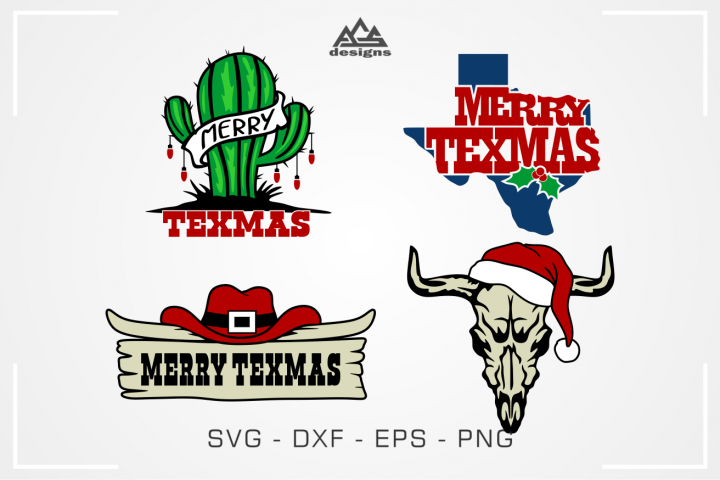 Merry Texmas Texas Christmas Svg Design