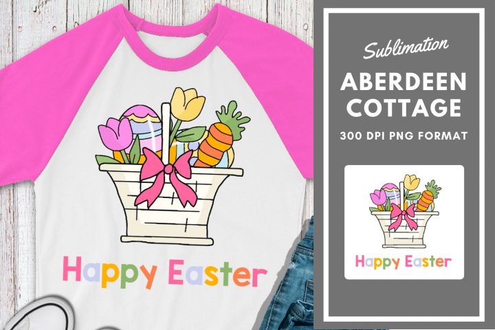 Happy Easter Sublimation Printable Design