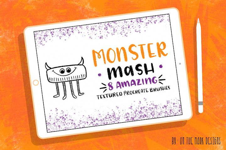 Monster Mash Textured Procreate Brushes
