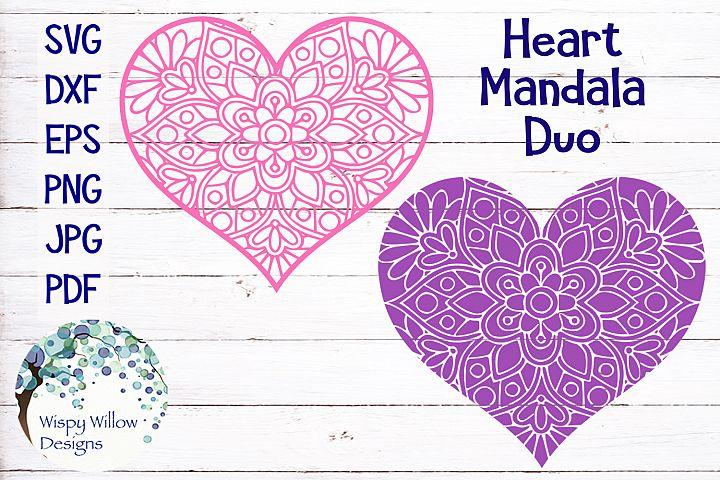 Floral Heart Mandala| Valentines Day SVG Cut File