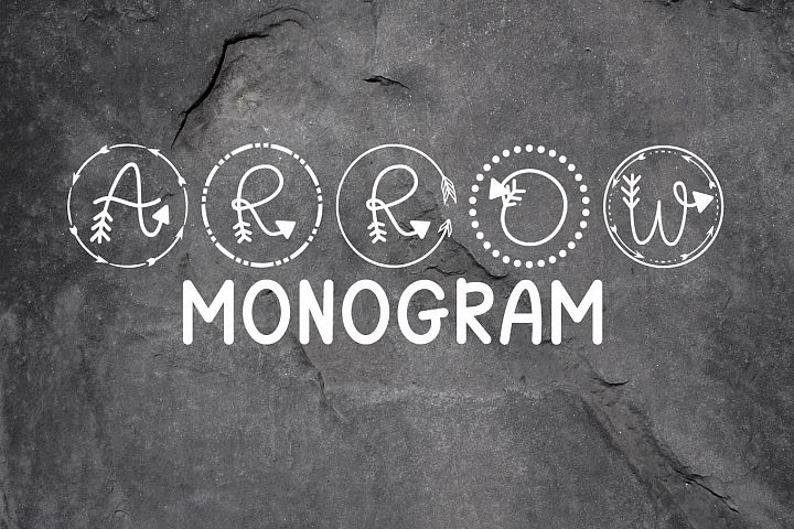 Arrow Monogram A Hand-Lettered Monogram Font