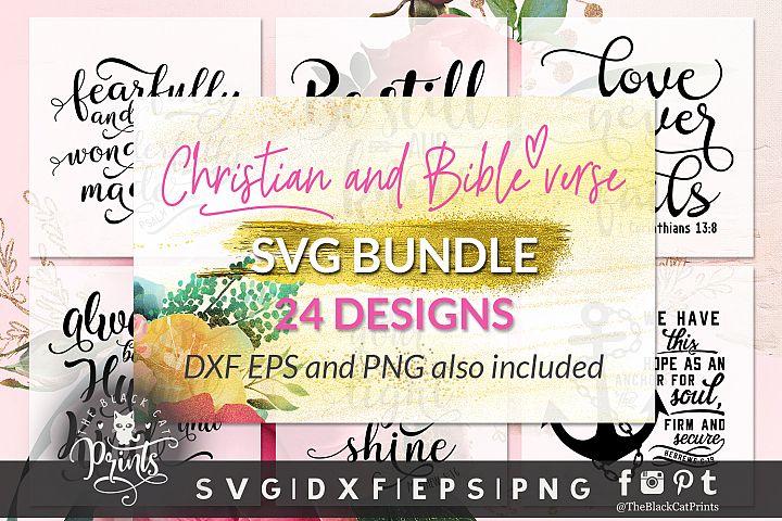 Christian SVG Bundle 24 Designs SVG PNG EPS DXF