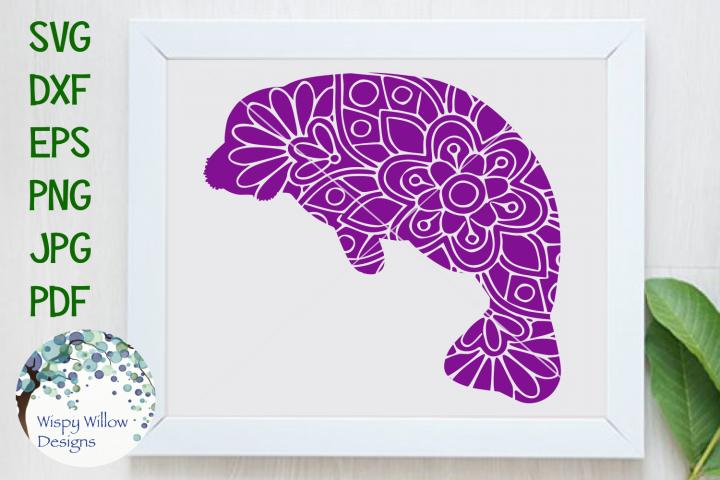 Manatee Mandala | Animal Mandala SVG Cut File