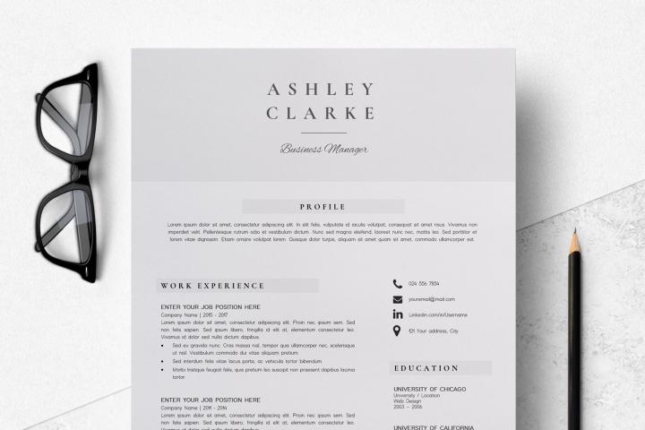 Resume Template | CV Cover Letter - Ashley Clarke