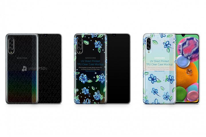 Galaxy A90 5G 2019 TPU Clear Case Mockup