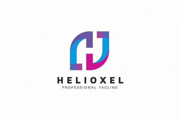 Helioxel H Letter Logo