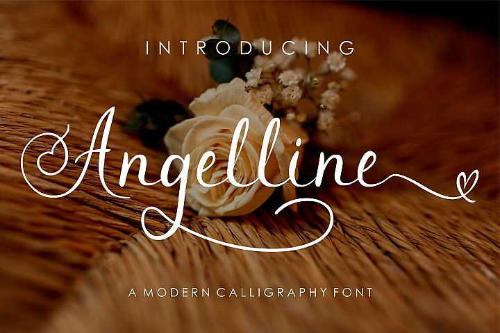 Angelline Modern Calligraphy Font